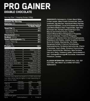 OPTIMUM NUTRITION PRO COMPLEX GAINER – STRAWBERRY CREAM 5 LBS