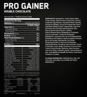 OPTIMUM NUTRITION PRO COMPLEX GAINER – STRAWBERRIES AND CREAM 10 LBS