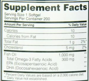 OPTIMUM NUTRITION FISH OIL – 200 EA
