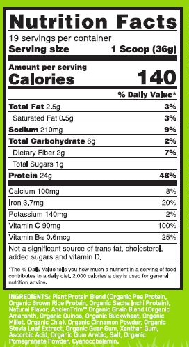 OPTIMUM NUTRITION GOLD STANDARD 100% PLANT PROTEIN – CHOCOLATE